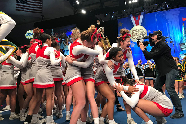 Fishers (IN) Varsity Cheer wins UCA Large Division National Championship