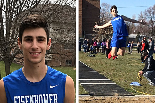 Eisenhower (MI) Senior Dante Candela sets new school record in long jump