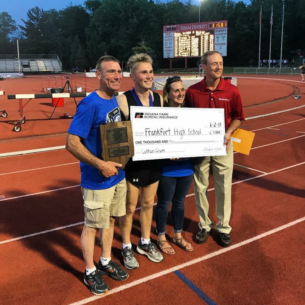 Frankfort High School's (IN) Colton Crum Breaks State Pole Vault Record And Wins State Championship Title