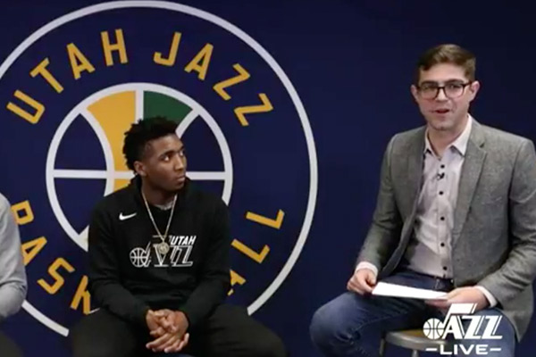 Utah Jazz livestream 'Jazz Live' with West (UT) High School Students