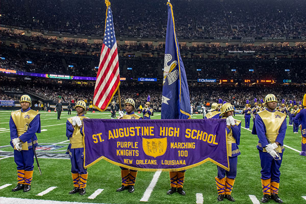 St. Augustine (LA) Marching 100 Perform at Halftime of the New Orleans Saints / Philadelphia Eagles NFC Divisional Playoff Game​