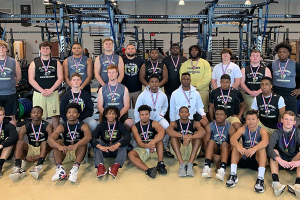 26 TL Hanna (SC) Yellow Jackets Medal in Region Strength Meet