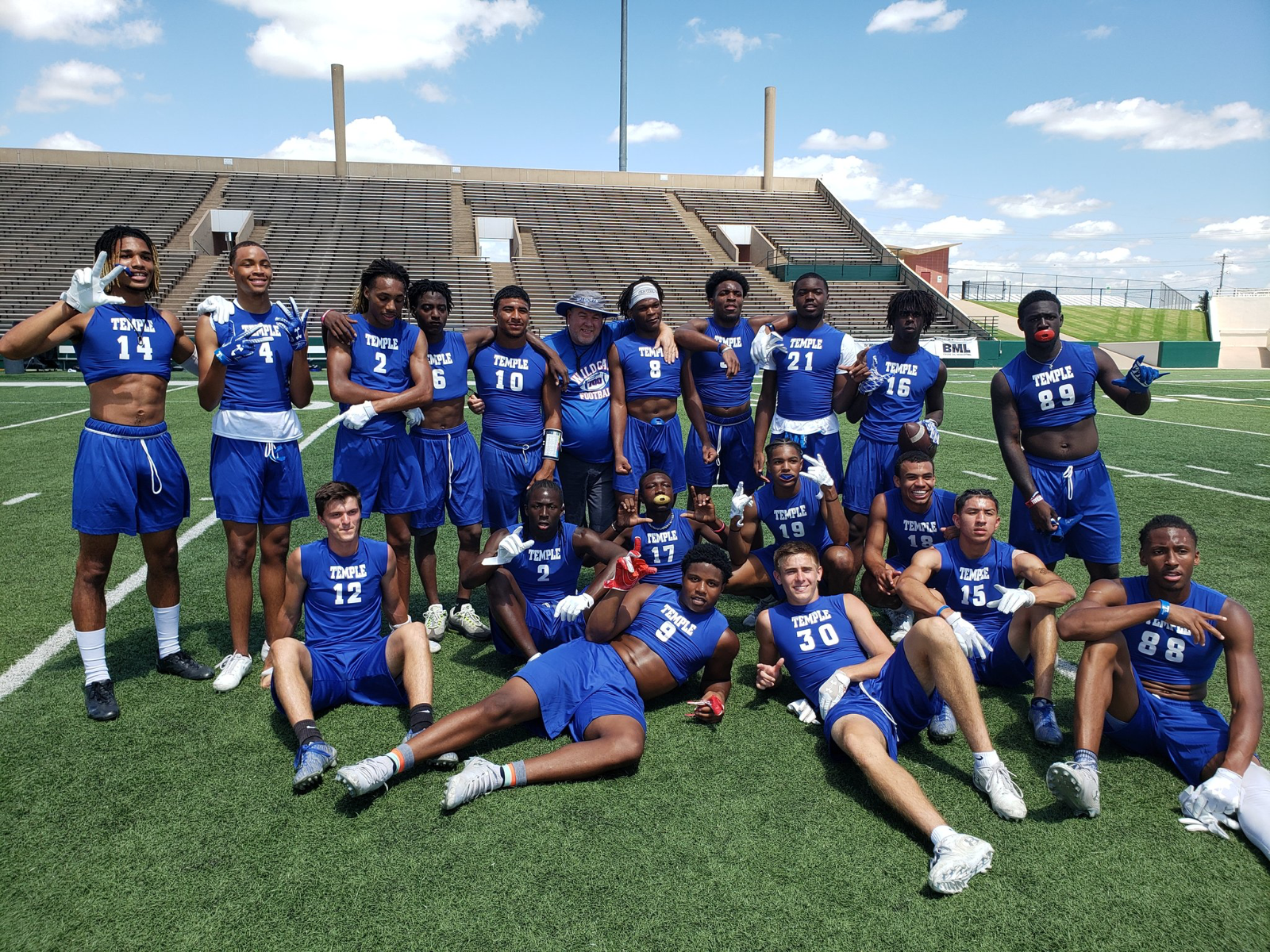 Temple (TX) Wildcats qualify for State 7 on 7 Tournament