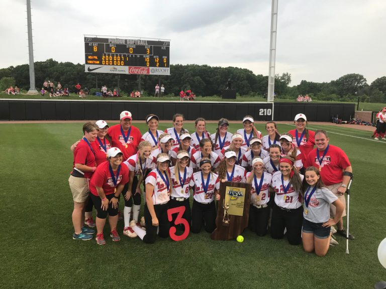 New Palestine (IN) Dragons complete softball championship three-peat