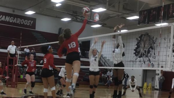 Midway High School Girls Varsity Volleyball beat Killeen High School