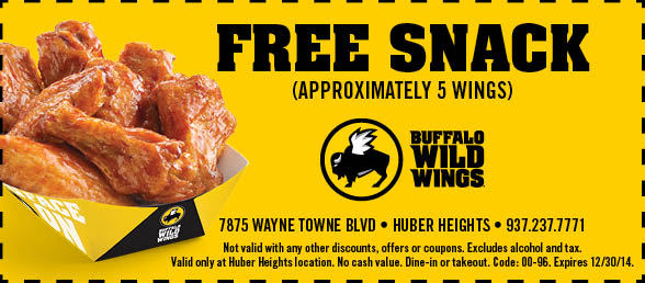 image relating to Buffalo Wild Wings Printable Coupons identify Wild wings n aspects discount codes : Naughty coupon codes for him