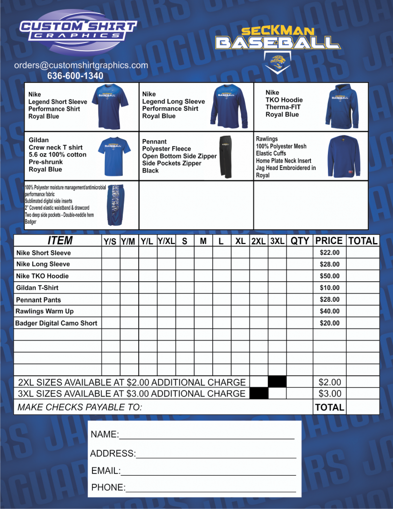 shs-baseball-order-15-6 Team Clothing Order Form on excel purchase, for custom, template pivottable excel, template microsoft, template blank,