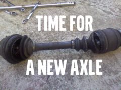 Axle clicking sound? What to do, and when to do it.