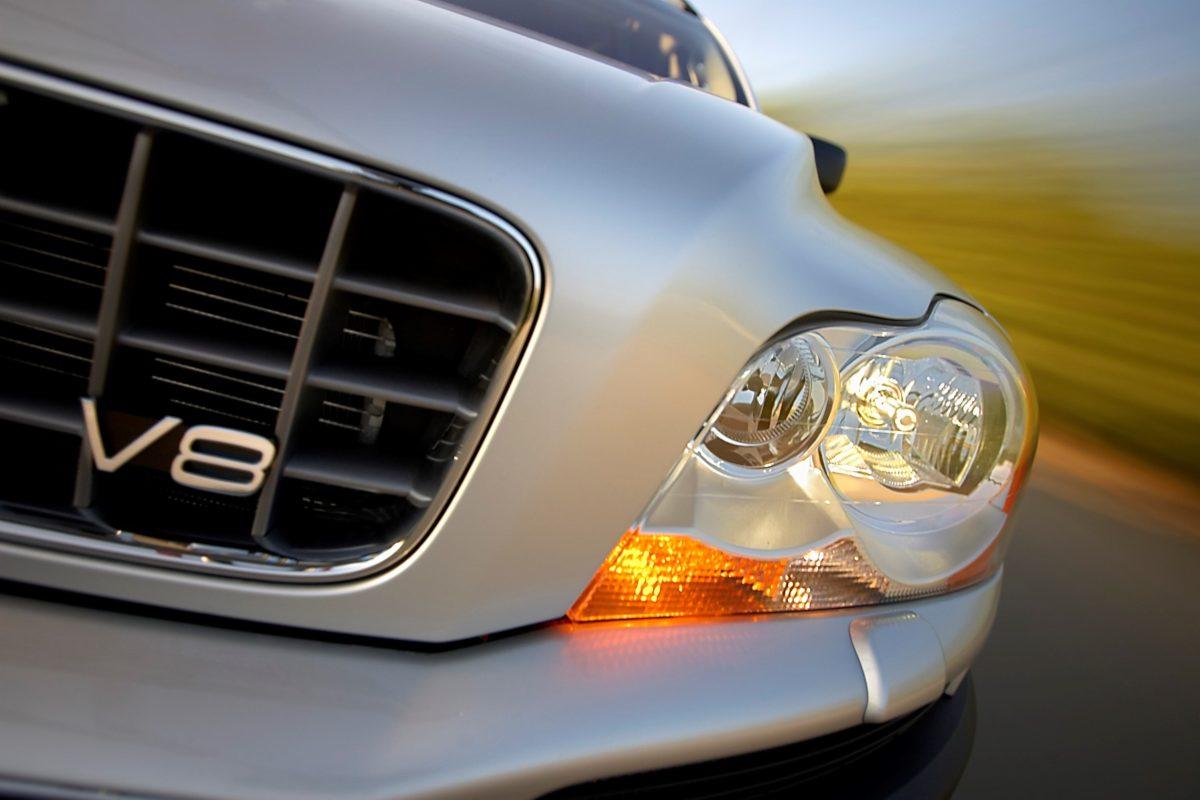 Volvo XC90 V8 -  headlight, silver, XC90 V8