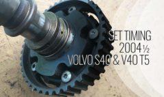 Set Timing S40 V40