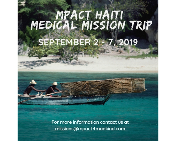MPACT Haiti:  Medical Mission Trip September 2-7, 2019