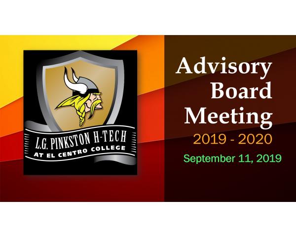 Pinkston Collegiate Advisory Board Meeting - September