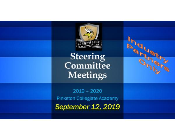 Pinkston Collegiate Steering Committee - September