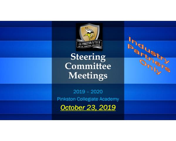 Pinkston Collegiate Steering Committee - October
