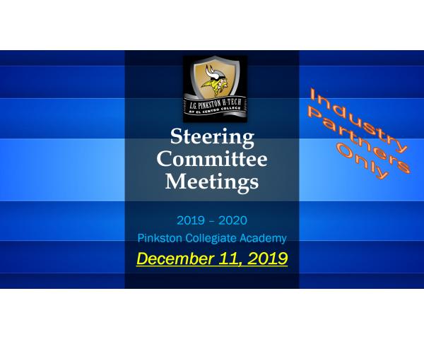 Pinkston Collegiate Steering Committee Meeting - December