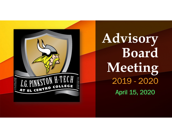 Pinkston Collegiate Advisory Board Meeting - April