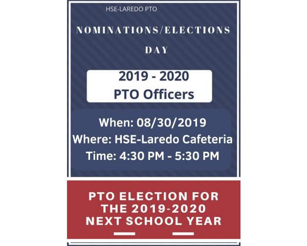HSE LAREDO  PTO NOMINATION/ELECTION DAY