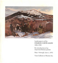 Allen   landscapes in oil