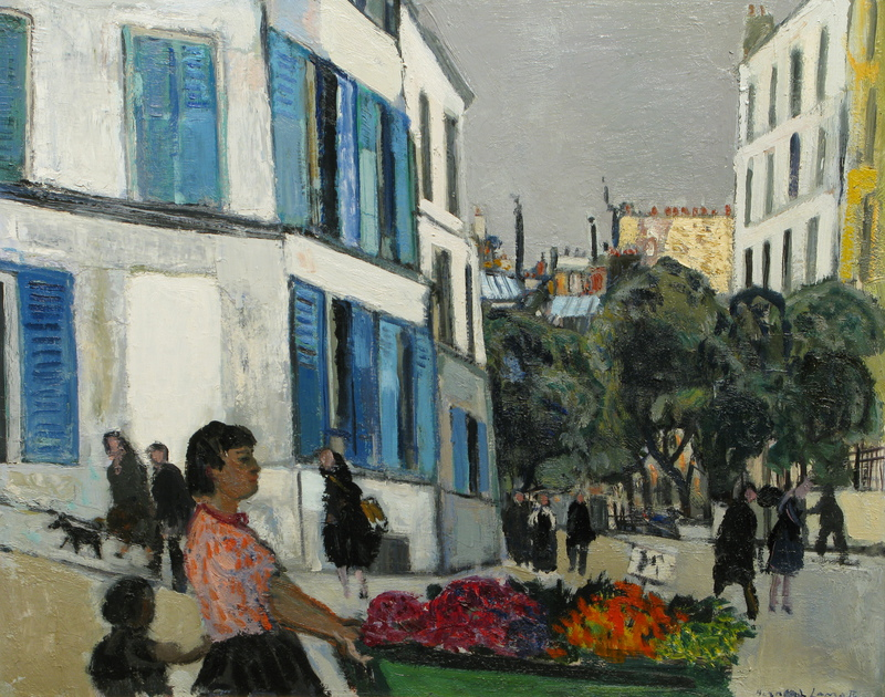 La Marchande des Fleurs (The Flower Vendor) by Bernard Lamotte (1903-1983)