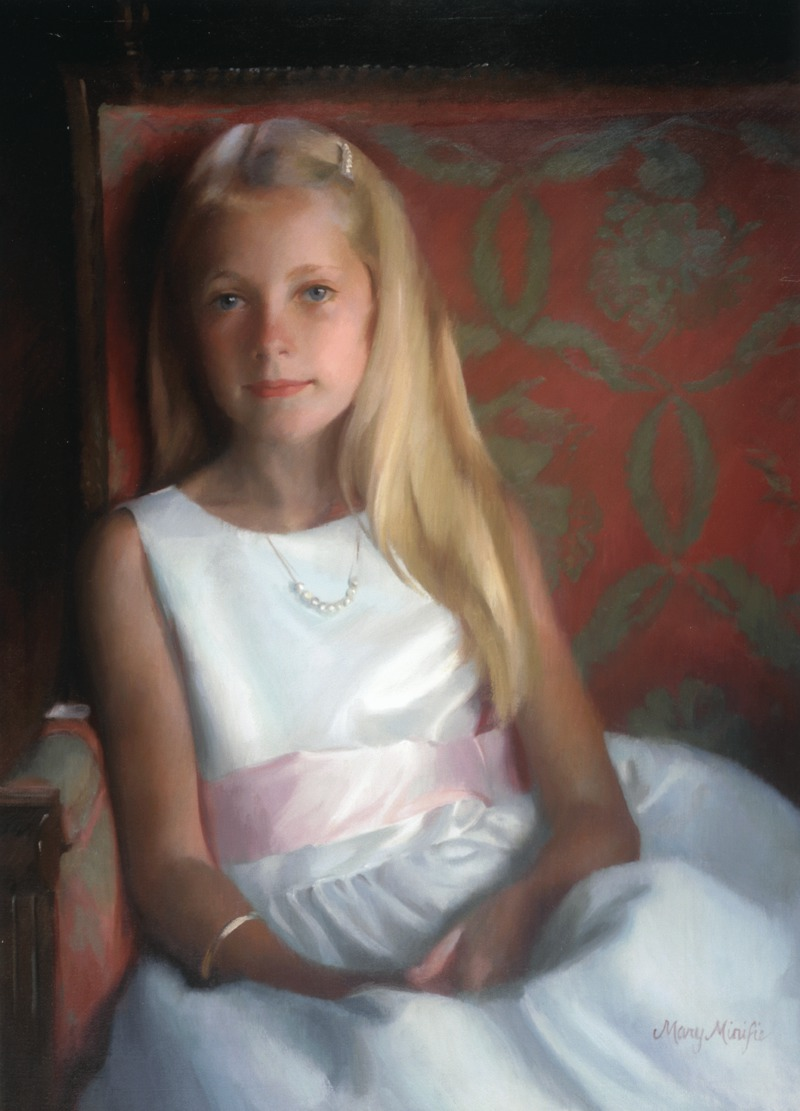 Girl in Chair by Mary Minifie (20/21st Century)