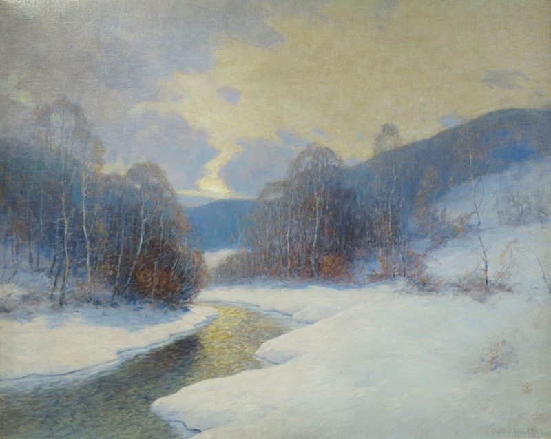 Winding Winter Stream by Ernest Albert (1857-1946)