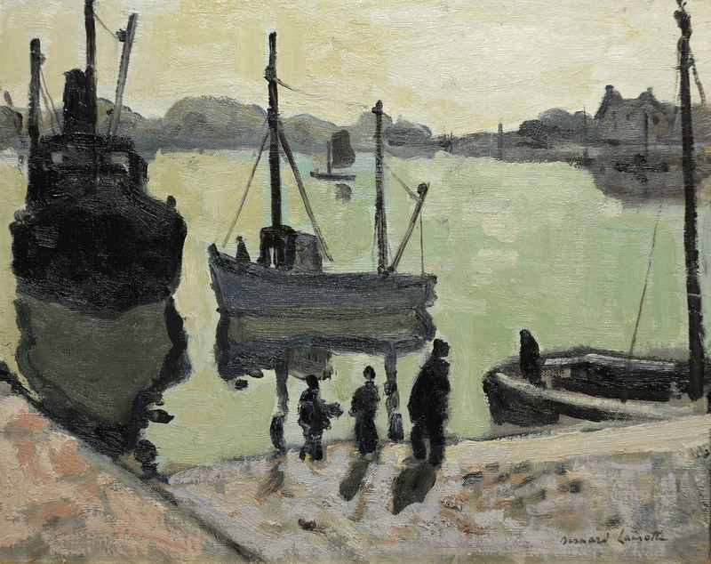 Fisherman's Landing by Bernard Lamotte (1903-1983)
