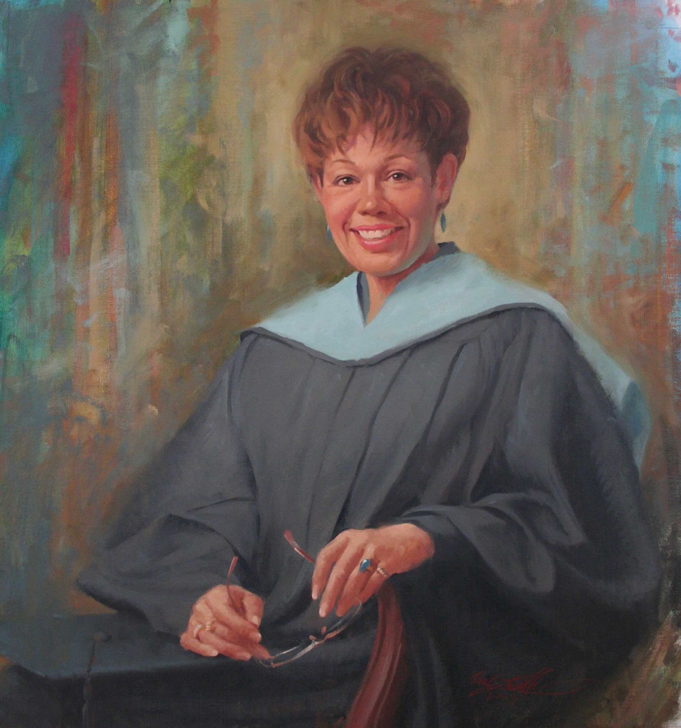 Teresa burr  dean of liberal arts transfer and general studies at sprinfield technical community college  springfield  massachusetts  oil on canvas  29 x 31 web