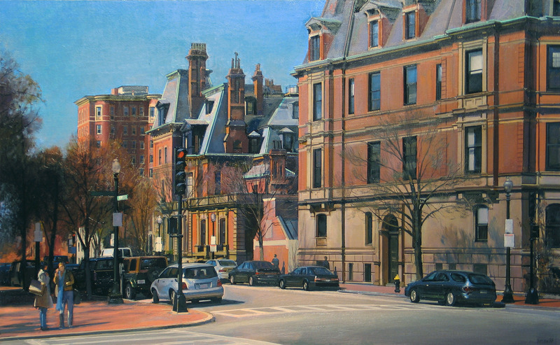 Corner of Dartmouth Street, Back Bay, Boston by Joel Babb