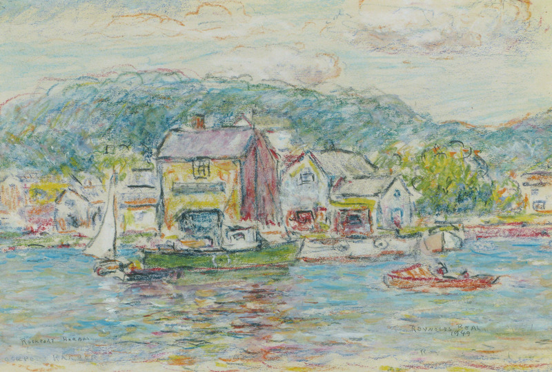 Rockport Harbor, Massachusetts by Reynolds Beal (1867-1951)