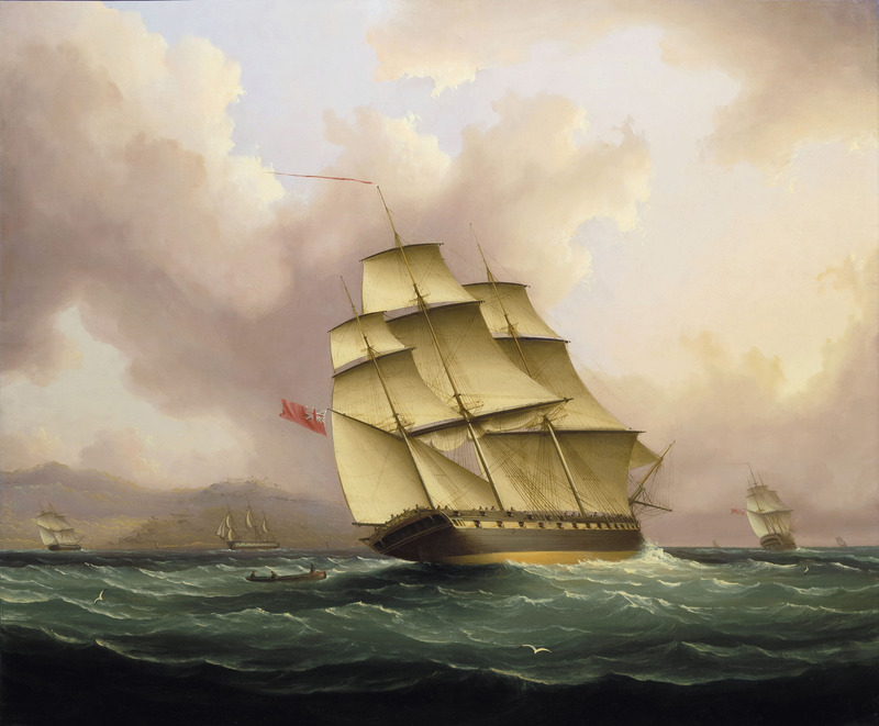 Off Barbados by James Edward Buttersworth (1817-1894)