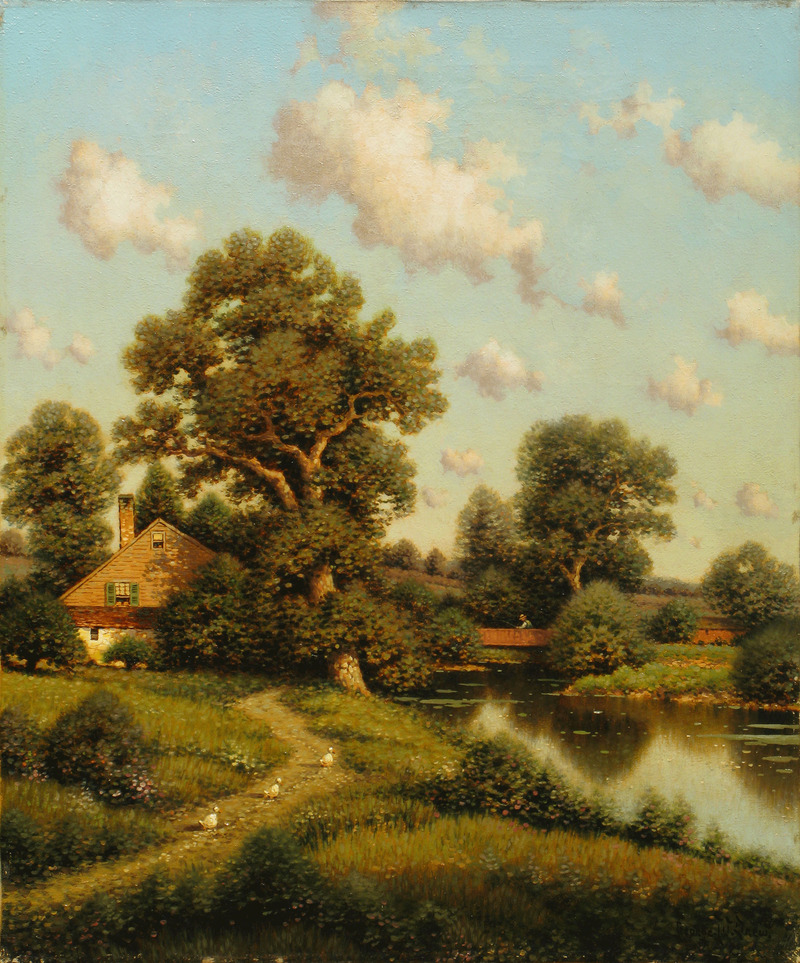 A Sunny Afternoon, New England by George W. Drew (1875-1968)