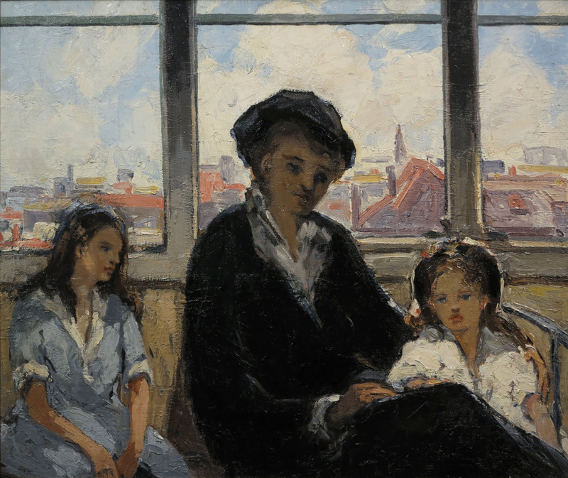 Woman Reading to Children by Walter Farndon (1876-1964)