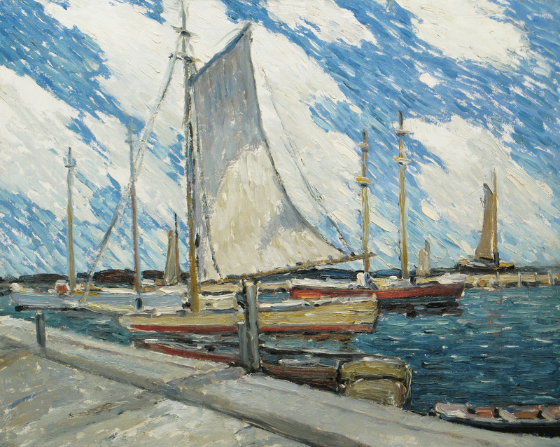 Backward Sail, Fire Island, New York by Walter Farndon (1876-1964)