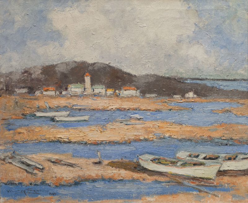 Dories at Low Tide by Walter Farndon (1876-1964)