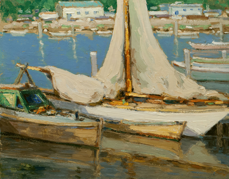 Lowered Sails by Walter Farndon (1876-1964)