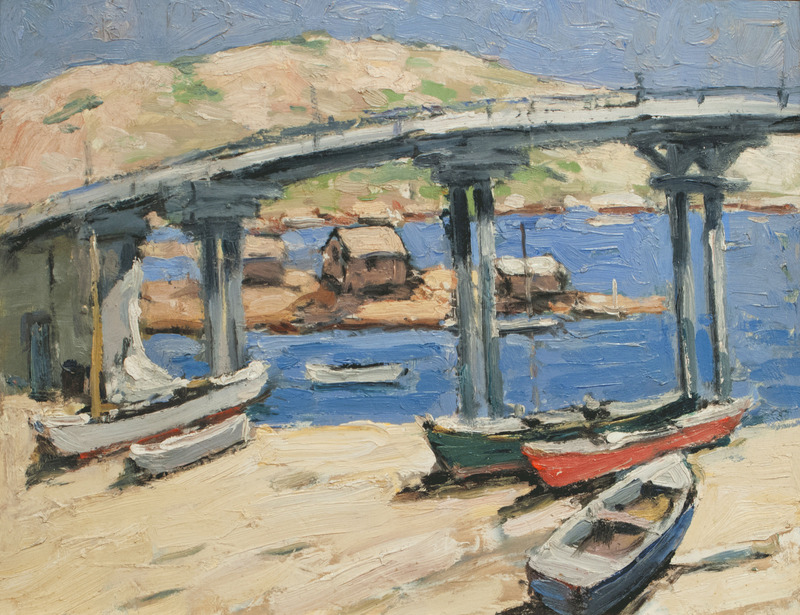 The Bridge: Rowboats on the Beach by Walter Farndon (1876-1964)