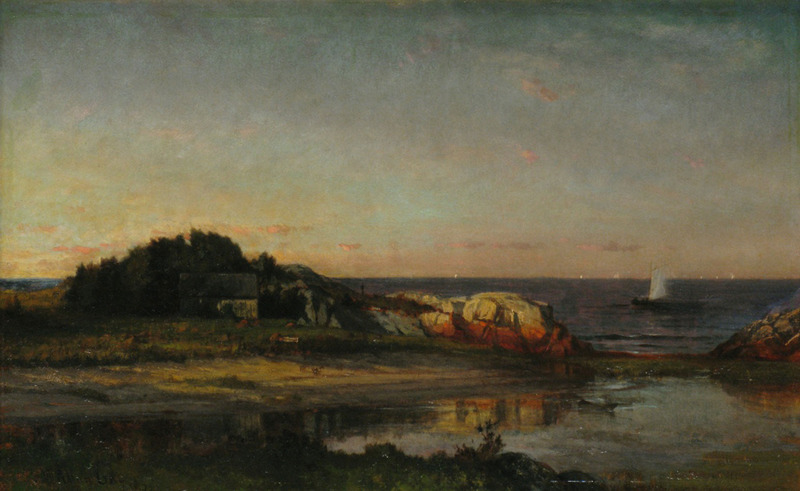 Sailing off the Seashore, Cohasset, Massachusetts by Winckworth Allan Gay (1821-1910)