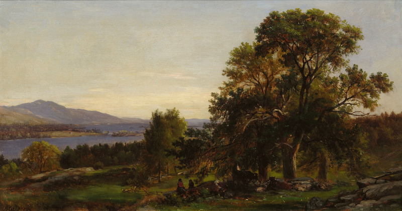 Chestnut Trees at Bolton, Lake George, New York by Samuel Lancaster Gerry (1813-1891)