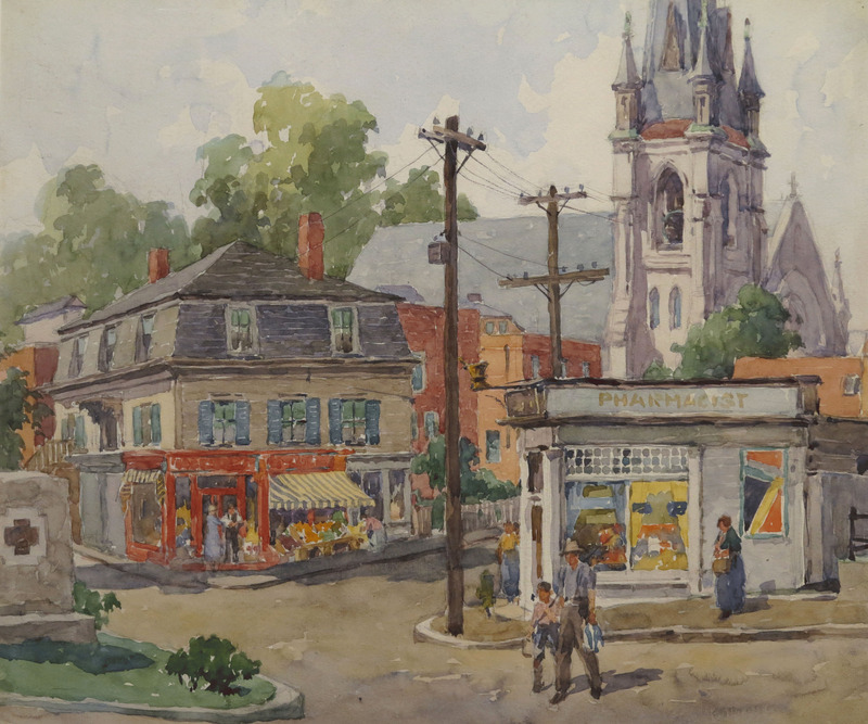 St. Ann's Church, Prospect Street, Gloucester by James Jeffrey Grant (1883-1960)