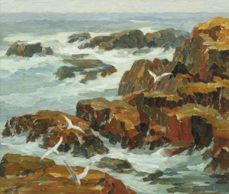 Rocky Coast, Gloucester by James Jeffrey Grant (1883-1960)