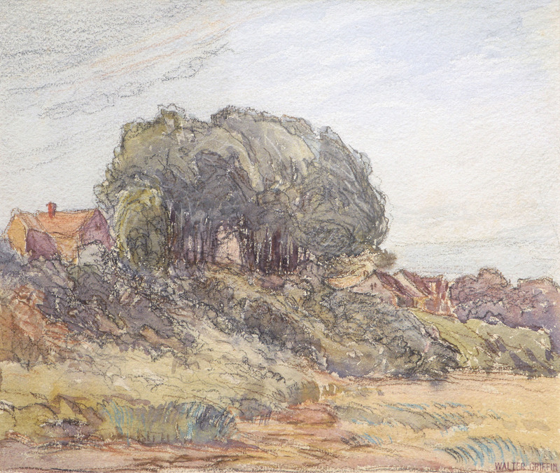 House on a Hill by Walter Griffin (1861-1935)