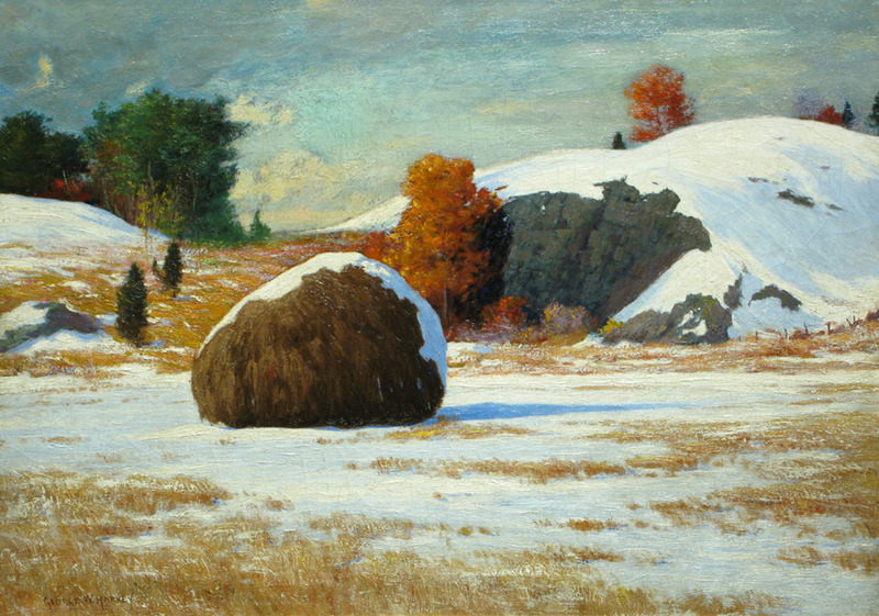 Early Snow, Rowley Marshes by George Wainwright Harvey (1855-1930)