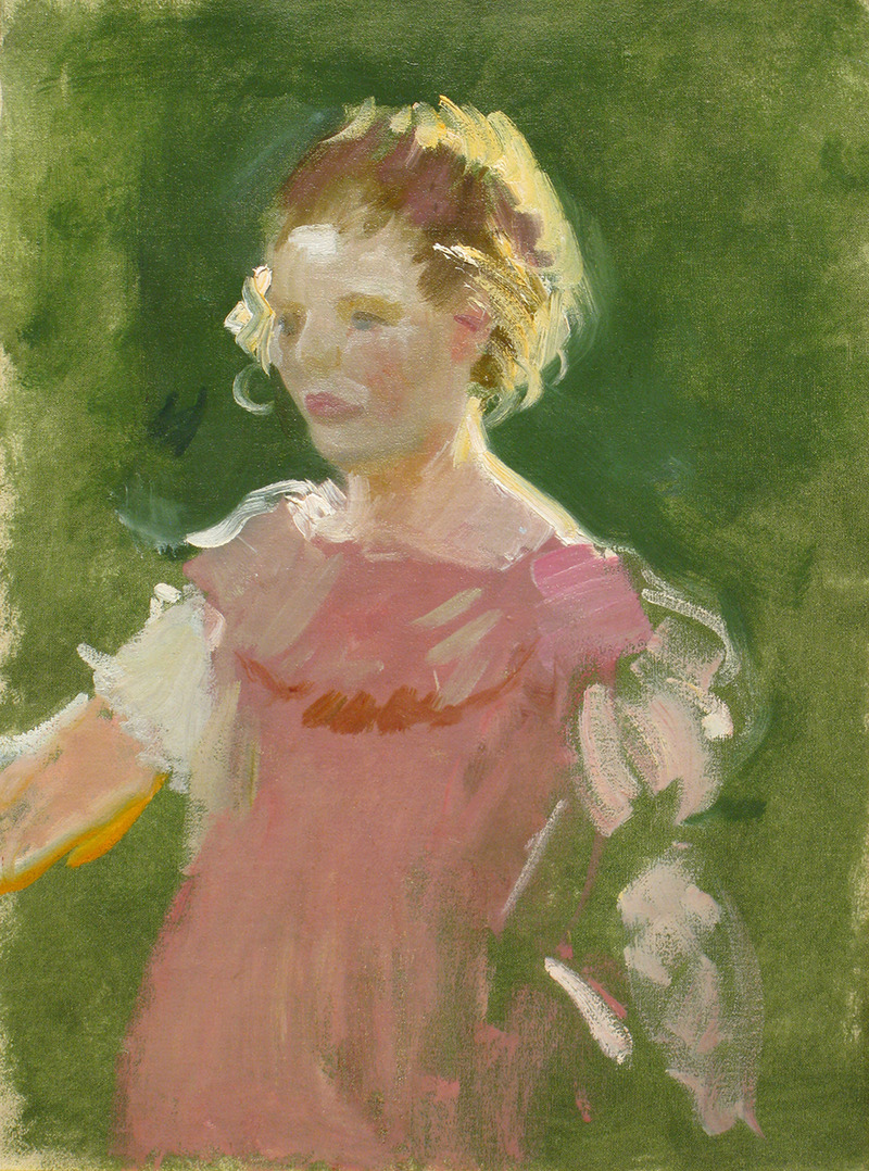 Girl in Pink by Charles Hopkinson (1869-1962)