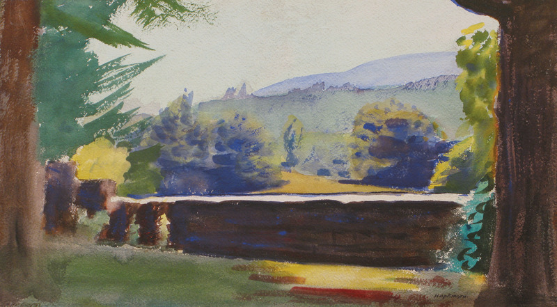 Mt. Ascutney from the Studio in Cornish, New Hampshire by Charles Hopkinson (1869-1962)