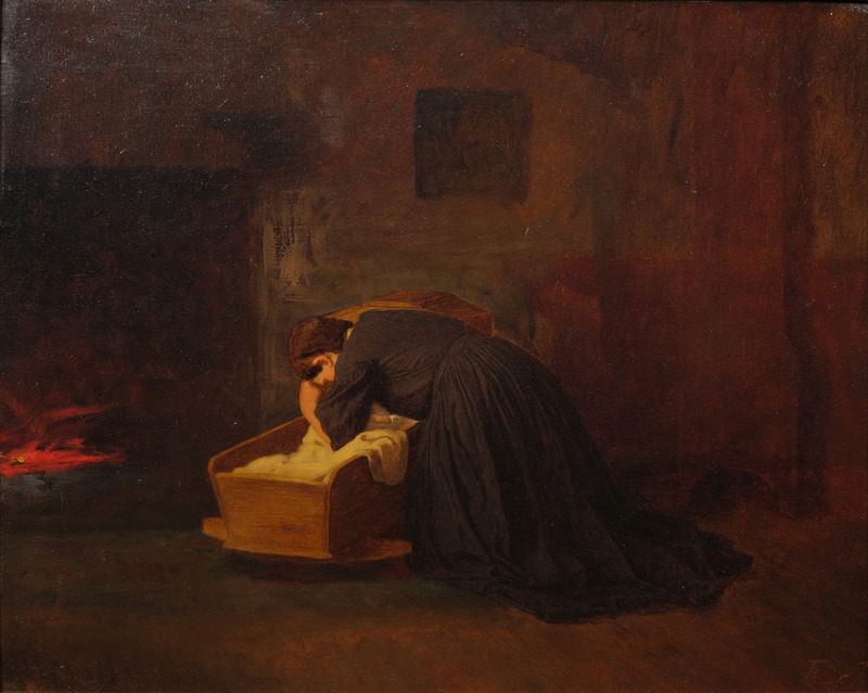 The Cradle Song by Eastman Johnson (1824-1906)