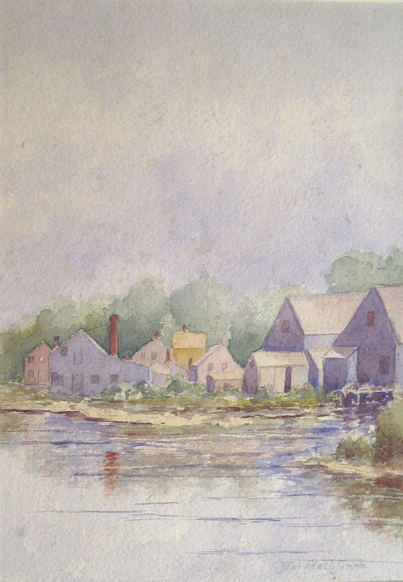 At the Water's Edge, Nantucket, MA by Marshall Jones (19th C.)