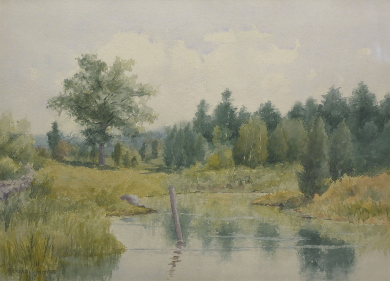 Post in the Creek by Marshall Jones (19th C.)