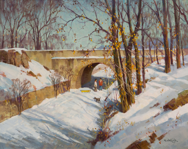 Winter Stroll by Paul Strisik (1918-1998)
