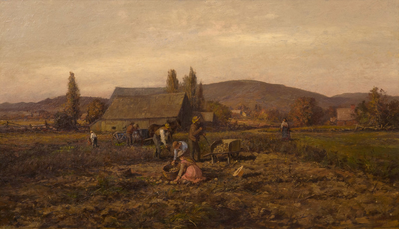Harvesting Potatoes by William Preston Phelps (1848-1923)