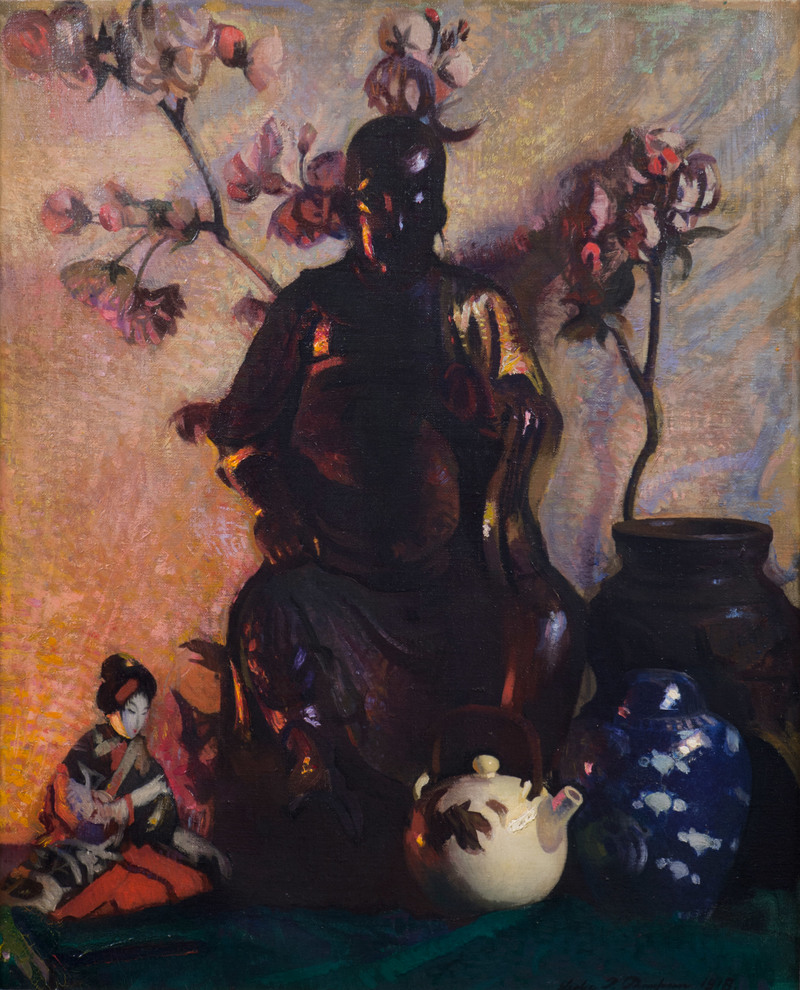 Still Life - Buddha by Leslie Prince Thompson (1880-1963)